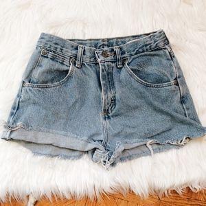 High Rise Wrangler Denim Shorts